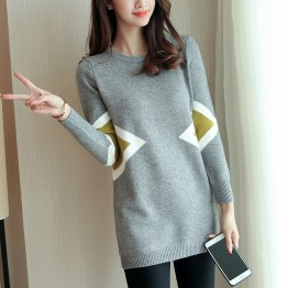 603 2017 autumn new women long knitted sweater