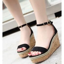 High heel waterproof platform beach thick bottom muffin sandals