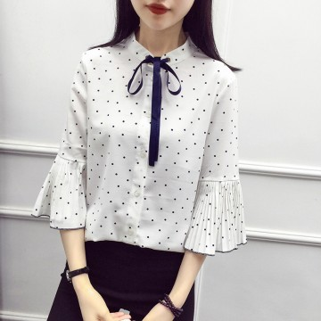 3715 short-sleeved chiffon shirt