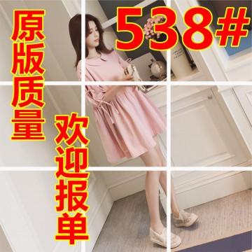 2017 summer new Korean version of the lotus leaf lantern sleeves dress women loose bowknot doll skirt a word skirt