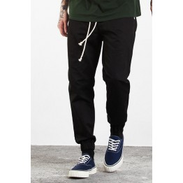 W335W17 straight joggerpants tied with small feet feet pants