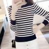 【5007】 spot black and white stripes breastfeeding sweater autumn long-sleeved sweater feeding dessert shirt shirt