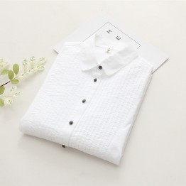 6893 art lady cotton white shirt
