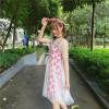 2017 summer new ladies peach heart dress skirt yarn A dress skirt two sets of dress women