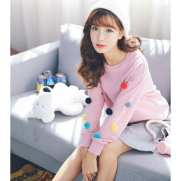 2017 real shot 8806 # new cute girl sweater woman