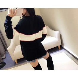 313 contract color letters couple loose wool knitted sweater