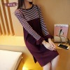 2017 autumn new women Korean version of the long section of the curling round collar Slim knitted sweater 719