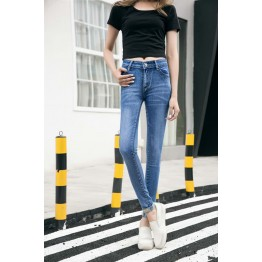 803 women's tight slim elastic pencil jeans