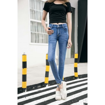 803 # real jeans women's feet pants elastic pencil pants Slim was thin code tight cowboy trousers tide