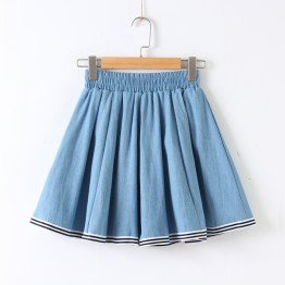 705 preppy style sweet half denim skirt