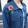 Real shot 8764 # 2017 Autumn denim jacket female