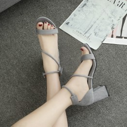 High heels buckle open-toed Rome sandals