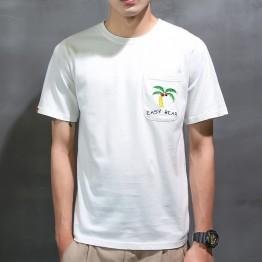 1010 Hongkong style personality loose men t-shirt