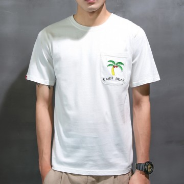 2017 summer new port wind t-shirt male short-sleeved Korean version of the trend of personality personality loose clothes men 1010