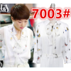 2017 new summer and autumn chiffon printing shirt with white jumpsuit