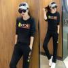 7062 # [real shot] 2017 spring and autumn new Korean women's sportswear Slim was thin fashion leisure sports sets