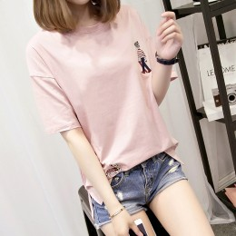 7338 embroidery short-sleeved t-shirt