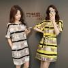 2017 summer new Korean version of fat mm large size dress female tide students fashion temperament ladies