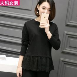 3015 large size women's long-sleeved T-shirt