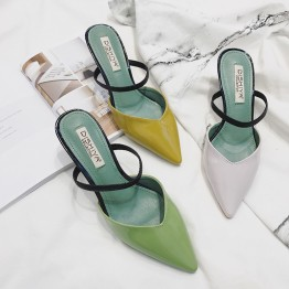 Summer fashion personality lovely pointed-toe slipper