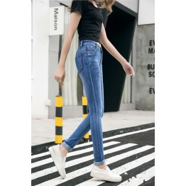 803 women's tight slim elastic pencil jeans