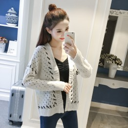 9913 Korean fashion trend simple hollow sweater