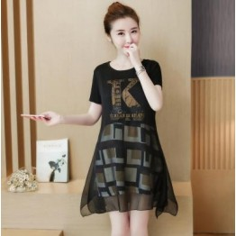 5085 # round neck  pregnant women dress