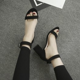 Thick high heel  one strap sandals