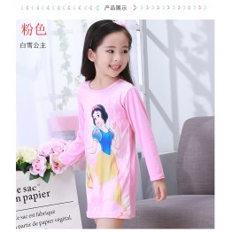 spring and autumn baby children's clothing girls long-sleeved sleep dress