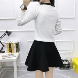 815 bow tie slim long-sleeve sweater