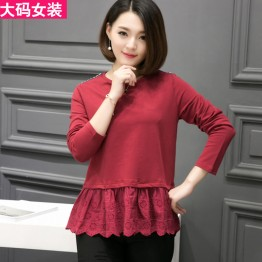 3015 large size women's long-sleeved T-shirt
