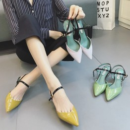 2017 new female summer Mary Jane shoes pointed-toe high heels