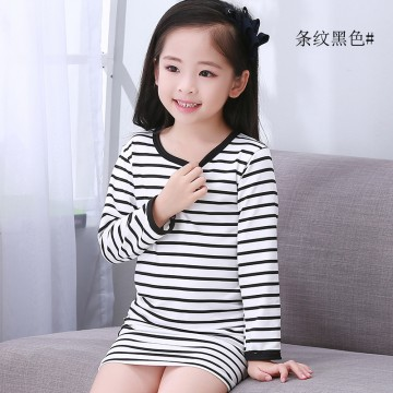 children's wear children's pajamas girls long-sleeved home sleep skirt parent-child suit
