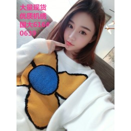 0639 young look loose flower sweater