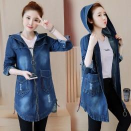 882 hooded large size women's denim jacket