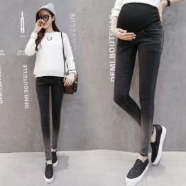 127 black pregnant women pants belly jeans