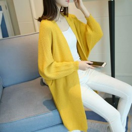 120 autumn new pocket cardigan loose bat sleeves sweater