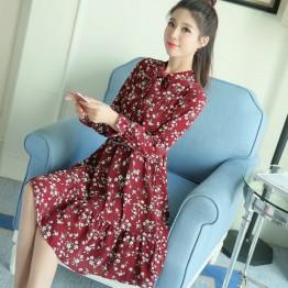 8835 spring chiffon small floral dress