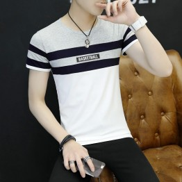 2017 new summer men's short-sleeved T-shirt round neck tattoo half-sleeved shirt shirt shirt 3036