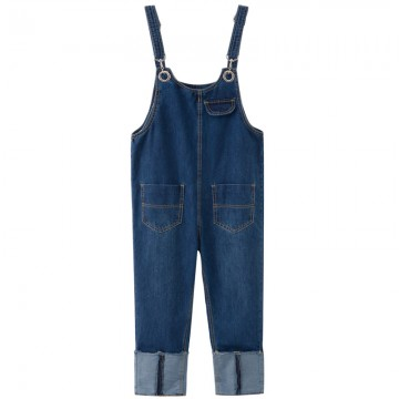 555 # 2017 spring new Korean denim pants loose loose large size flanging back piece pants female