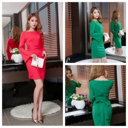 8311 new ladies long sleeves fashion temperament dress