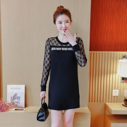 3610 plus size hollow lace slim look dress