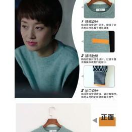 3318 Korea loose contract color sweater