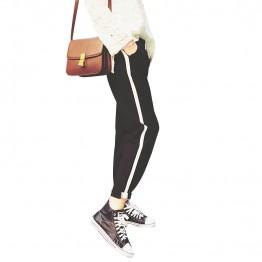 378 white side sports ninth pencil pants