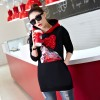 5350 real shot in the long sweater thickening plus large size women's autumn and winter new