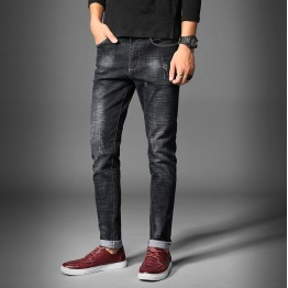 712 Men's autumn fashion straight elastic washing men's casual jeans