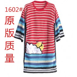 1602 trumpet sleeve Loose Knit long Blouse