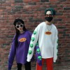 88001 autumn couple Harajuku alien printing round neck loose long sleeve sweatshirt