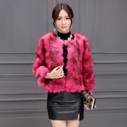 8238 autumn and winter lady fox fur short coat