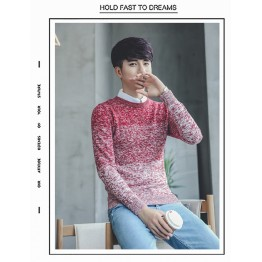620 leisure gradient men knitting sweater